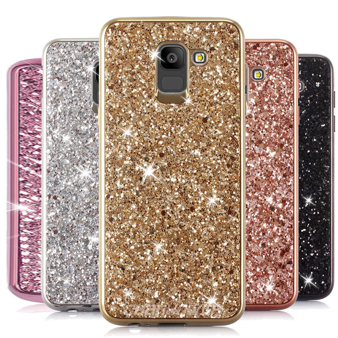 Glitter Bling Diamond Soft Rubber Case Cover For Samsung Galaxy S9 or S9 Plus - BingBongBoom