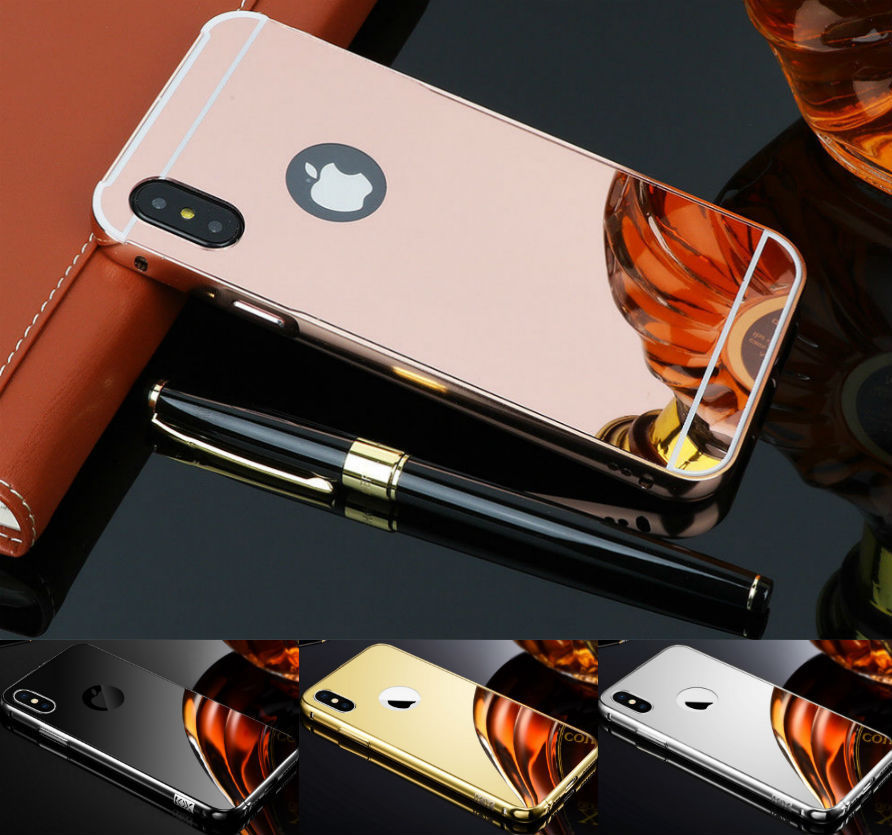 Mirror Aluminum Metal Bumper Case Apple iPhone X