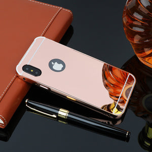 Mirror Aluminum Metal Bumper Case Apple iPhone X - BingBongBoom
