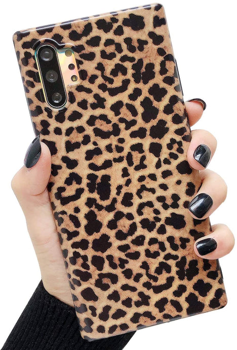 Leopard Print Pattern Wildcat Series Soft Rubber Case Cover Samsung Galaxy Note 10 or Note 10 Plus - BingBongBoom