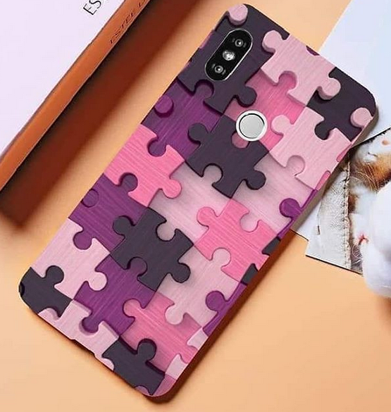 Puzzle Pieces Print Pattern Puzzle Series Soft Rubber Case Cover Apple iPhone 8 or 8 Plus - BingBongBoom