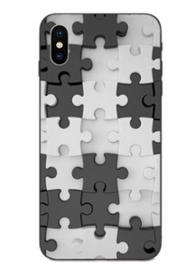 Puzzle Pieces Print Pattern Puzzle Series Soft Rubber Case Cover Apple iPhone X / XS / XR / XS Max - BingBongBoom