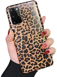 Leopard Print Pattern Wildcat Series Soft Rubber Case Cover Samsung Galaxy S20 / S20 Plus / S20 Ultra - BingBongBoom