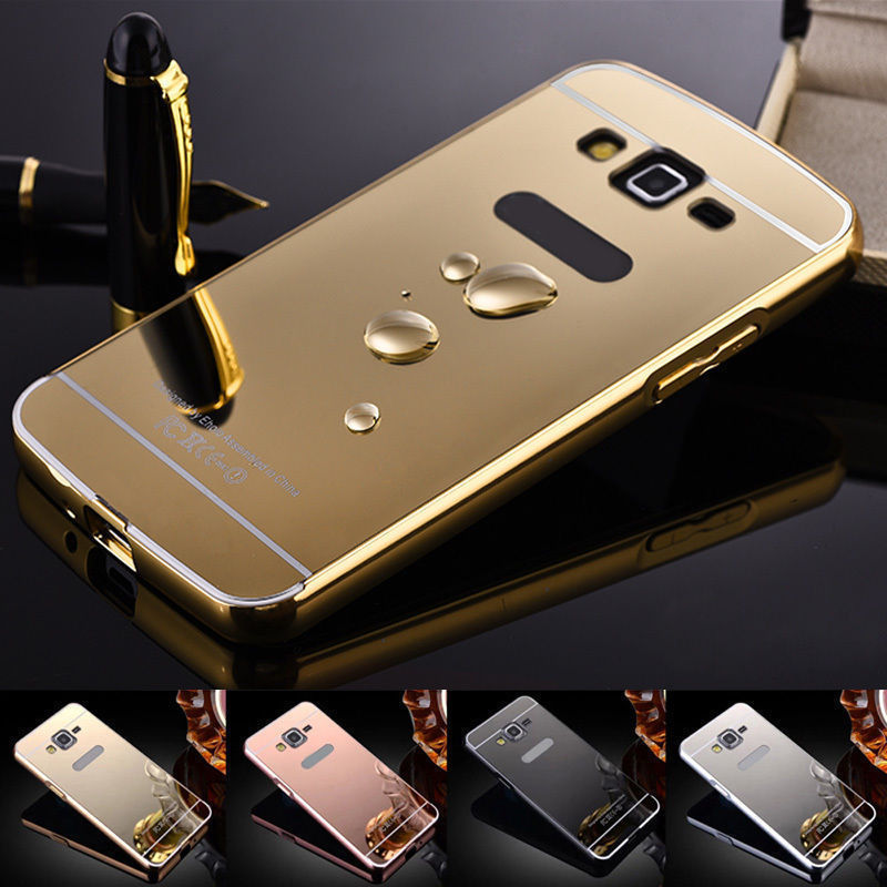Mirror Aluminum Metal Bumper Case Samsung Galaxy S8 or S8 Plus