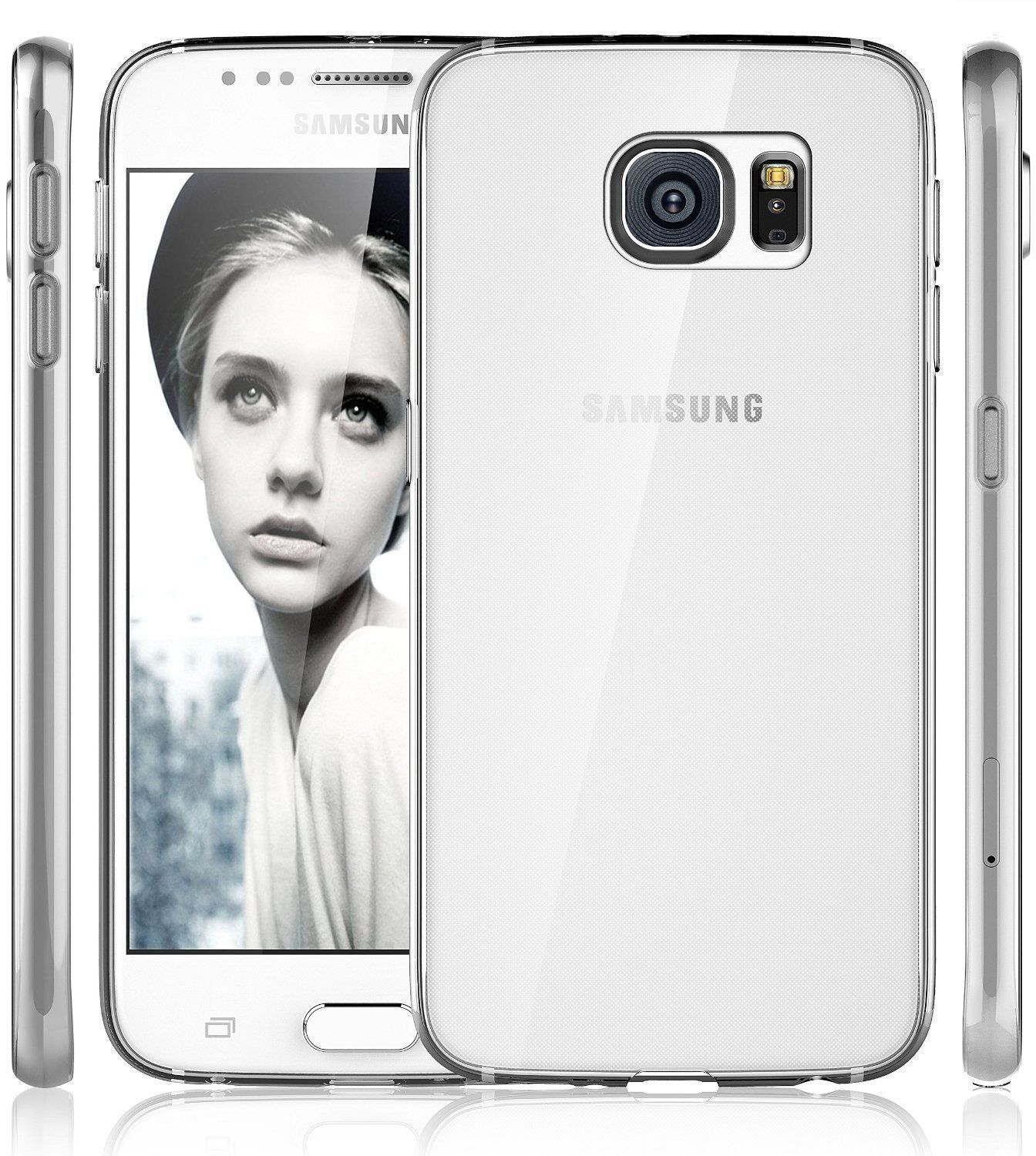 TPU Clear Transparent Soft Silicone Gel Case Cover Samsung Galaxy S6 Edge or S6 Edge Plus