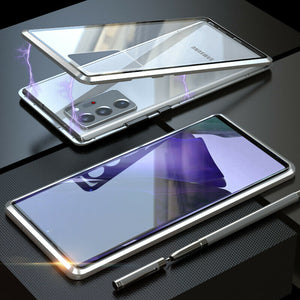 360° Magnetic Metal Double-Sided Glass Case Samsung Galaxy Note 20 or Note 20 Ultra