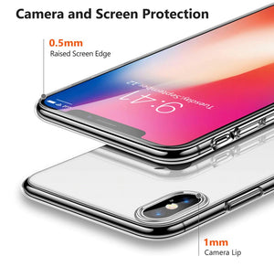 TPU Clear Transparent Soft Silicone Gel Case Cover Apple iPhone X / XS / XR / XS Max - BingBongBoom