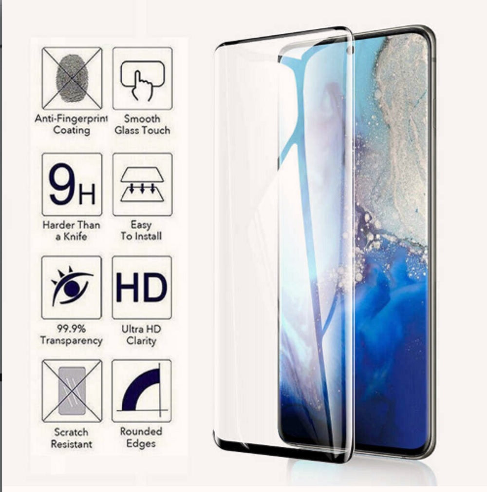 Samsung Galaxy S20, S20 Plus, or S20 Ultra 3D Tempered Glass Screen Protector - BingBongBoom