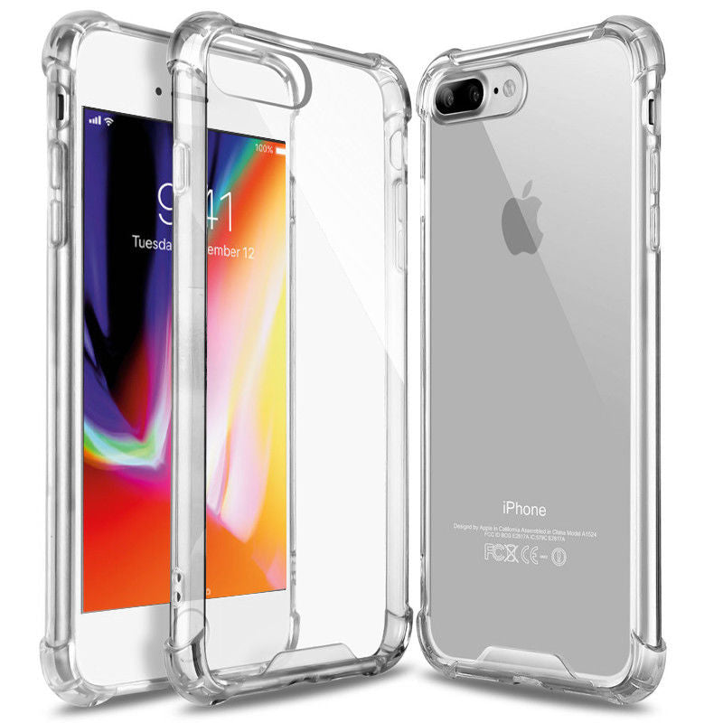 TPU Clear Transparent Soft Silicone Gel Case Cover Apple iPhone 7 or 7 Plus