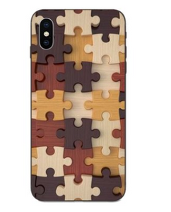 Puzzle Pieces Print Pattern Puzzle Series Soft Rubber Case Cover Apple iPhone SE 2020 (Gen2) - BingBongBoom