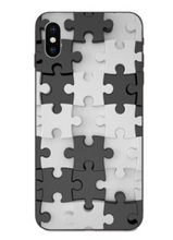 Load image into Gallery viewer, Puzzle Pieces Print Pattern Puzzle Series Soft Rubber Case Cover Apple iPhone SE 2020 (Gen2) - BingBongBoom