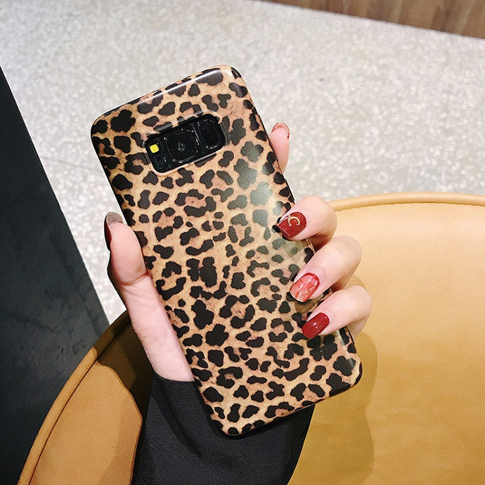 Leopard Print Pattern Soft Rubber Case Cover Samsung Galaxy Note 8 - BingBongBoom
