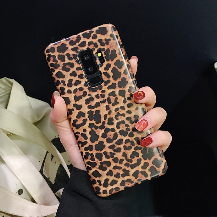 Leopard Print Pattern Soft Rubber Case Cover Samsung Galaxy S9 or S9 Plus - BingBongBoom