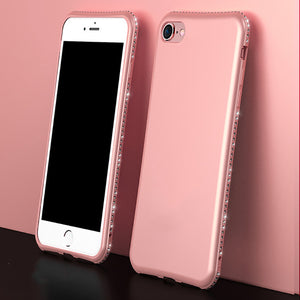 Bling Diamond Shiny Bumper Soft Silicon Case Apple iPhone 7 or 7 Plus - BingBongBoom