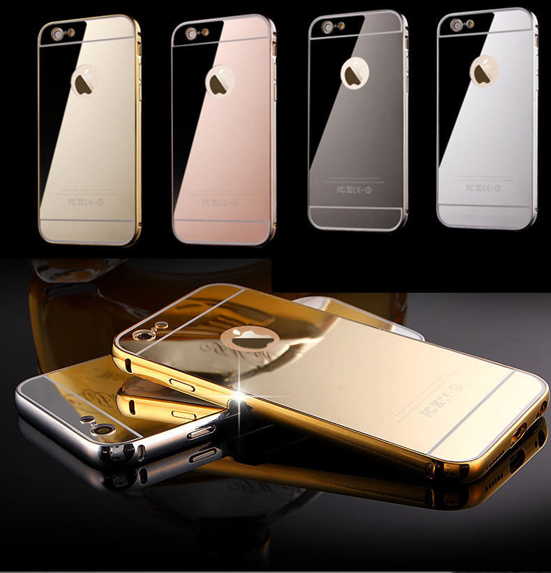 Mirror Aluminum Metal Bumper Case Apple iPhone 6 or 6 Plus