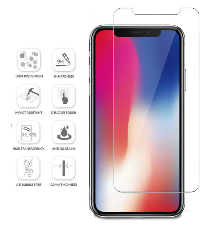 Tempered Glass Screen Protector Apple iPhone X, XS, XR, or XS Max