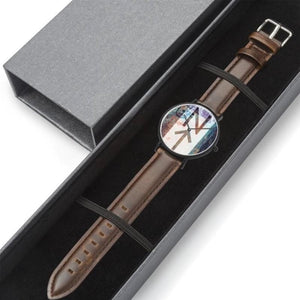 Abstract Genuine Leather Watch with CITIZEN Quartz movement-Accessories, Watch, NT-Abstract-Northern Treasure