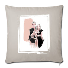 "Load image into Gallery viewer, Fashion Couple by AhVero Throw Pillow Cover 18"" x 18""-Throw Pillow Cover 18"" x 18"", ahvero, royalty, home decor-Northern Treasure"