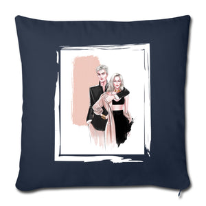 "Fashion Couple by AhVero Throw Pillow Cover 18"" x 18""-Throw Pillow Cover 18"" x 18"", ahvero, royalty, home decor-Northern Treasure"