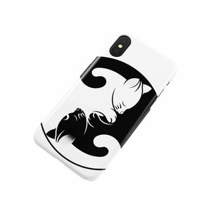 Yin and Yang Cats Phone Case-Accessories, phone case, NT-YinYang, cat couture, cats, yinyang-Northern Treasure
