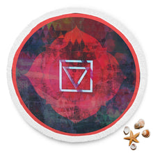 Load image into Gallery viewer, Coral Root Beach Blanket-Beach Blanket, beach, blanket, chakra, muladhara-Northern Treasure