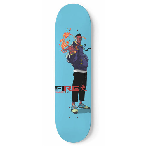 Fire by WAVELOOP Skateboard Deck-1 Skateboard Wall Art, waveloop, royalty-Northern Treasure