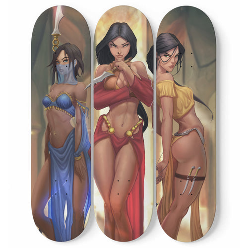 Desert Assassins by WAVELOOP Custom Designed 3 Skateboard Wall Art - Northern Treasure