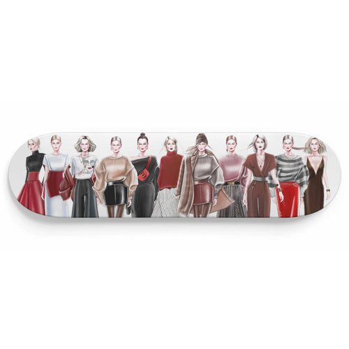 Casual Party by AhVero Custom Designed Skateboard Wall Art-1 Skateboard Wall Art, ahvero, royalty-Northern Treasure