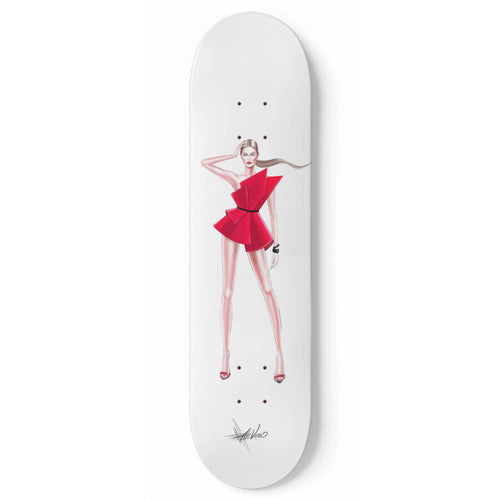 Fashion Red by Ahvero Custom Designed Skateboard Wall Art - Northern Treasure