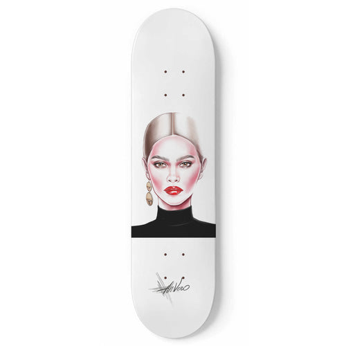 Red Lips by AhVero Custom Designed Skateboard / Wall Art - Northern Treasure
