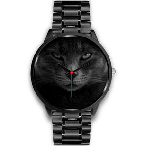 Eurasian Cat Eyes Watch-Black Watch, accessories, cat couture, watches-Northern Treasure