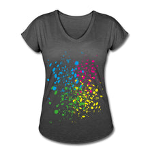 Load image into Gallery viewer, Customizable Women's Tri Blend V-Neck Tee-Women's Tri-Blend V-Neck T-Shirt, Make it Your Own, apparel-Northern Treasure