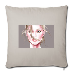 "Tenderness by AhVero Throw Pillow Cover 18"" x 18""-Throw Pillow Cover 18"" x 18"", ahvero, royalty, home decor-Northern Treasure"