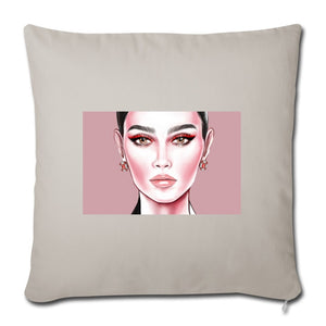 "Red Eyeliner by AhVero Throw Pillow Cover 18"" x 18""-Throw Pillow Cover 18"" x 18"", ahvero, royalty, home decor-Northern Treasure"