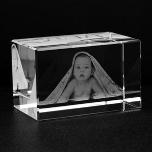 Custom Photo Engraved Crystal Block-Crystal, home decor, make it your own-Northern Treasure