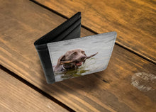 Load image into Gallery viewer, Handmade Men's 2 Fold Wallet - Dog in the Water-Wallet, accessories-Northern Treasure