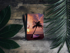 Handmade Passport Cover - Sunset Beach-accessories, travel, cases-Northern Treasure