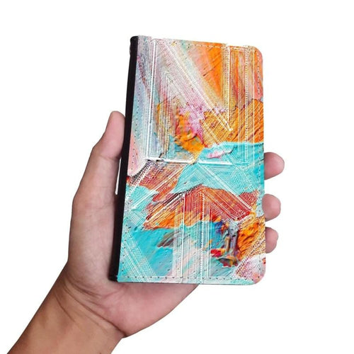 Handmade Wallet Style Phone Case - Abstract Impressions-Phones, NT-AI, Accessories, Wallet cases-Northern Treasure