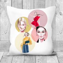Load image into Gallery viewer, Fashion Looks by AhVero Handmade Poly Linen Cushion Covers with Double Sided Print-home decor, ahvero, royalty-Northern Treasure