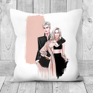 Fashion Couple by AhVero Handmade Poly Linen Cushion Covers with Double Sided Print-home decor, ahvero, royalty-Northern Treasure