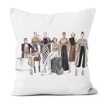Load image into Gallery viewer, Ready to Wear by AhVero Handmade Poly Linen Cushion Covers with Double Sided Print-home decor, ahvero, royalty-Northern Treasure