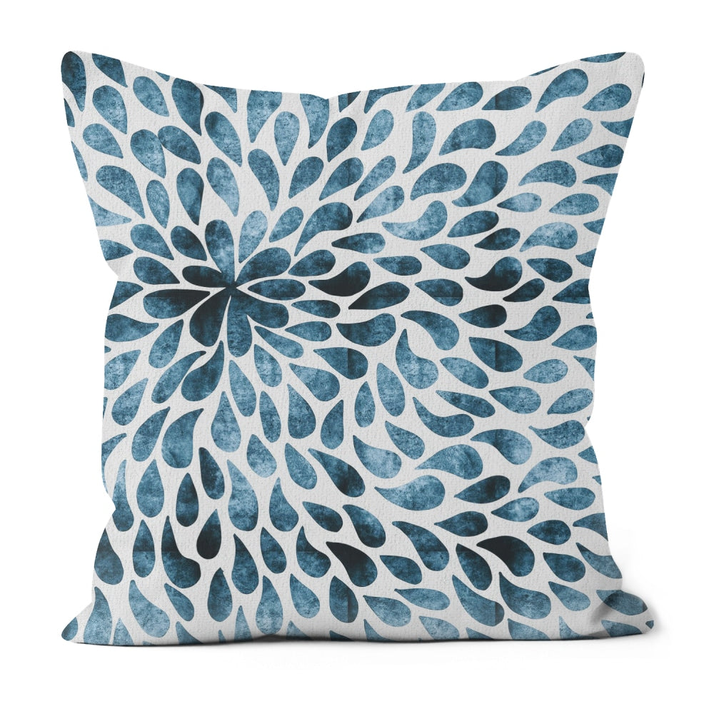 Handmade Poly Linen Cushion Covers With Double Sided Print-home decor, pillows-Northern Treasure