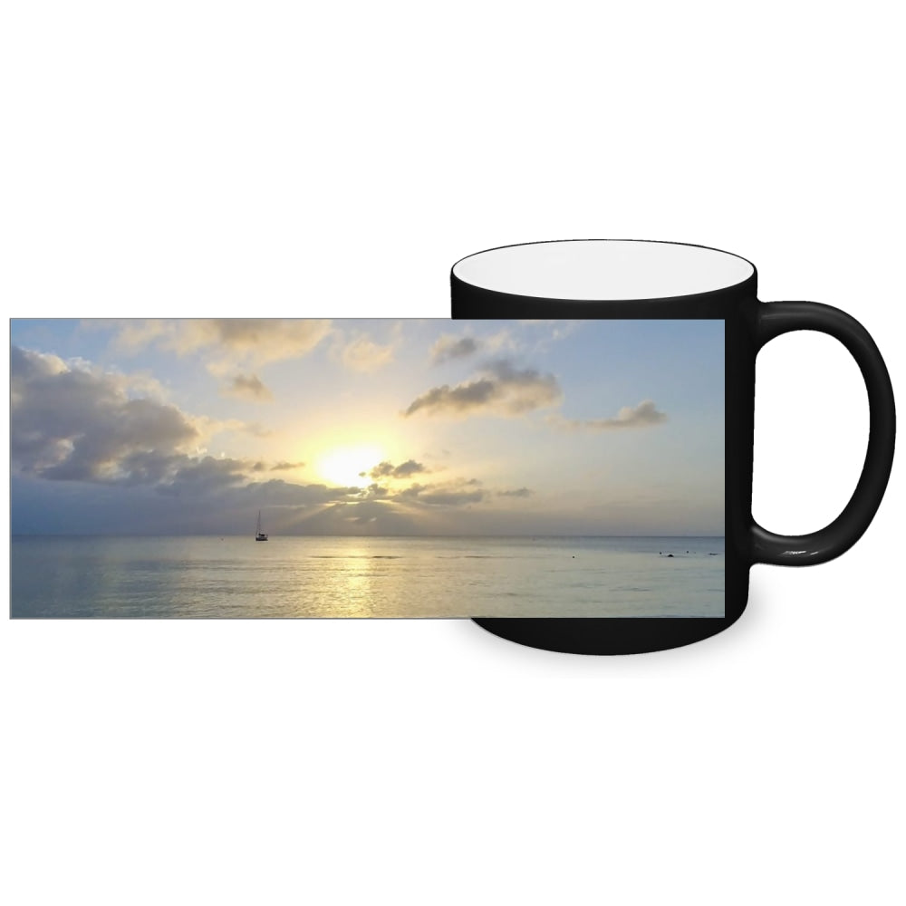 Color Changing Mug - Boating at Sunrise-Accessories , Home decor-Northern Treasure