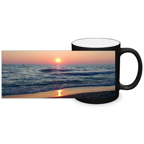 Colour Changing Mug - Waves at Sunset-accessories, home decor-Northern Treasure