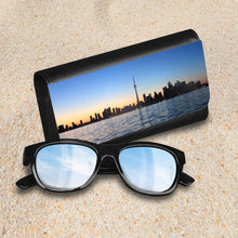 Load image into Gallery viewer, Handmade Sunglasses Case - Toronto Skyline-accessories, travel, cases, sunglasses-Northern Treasure