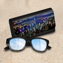 Load image into Gallery viewer, Handmade Sunglasses Case - Hong Kong Skyline-accessories, travel, cases, sunglasses-Northern Treasure