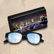 Load image into Gallery viewer, Handmade Sunglasses Case - London Night Lights-accessories, travel, cases, sunglasses-Northern Treasure