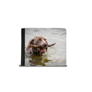 Handmade Men's 2 Fold Wallet - Dog in the Water-Wallet, accessories-Northern Treasure