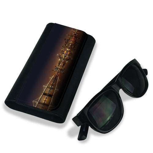 Handmade Sunglasses Case - NYC Night Skyline-accessories, travel, cases, sunglasses-Northern Treasure