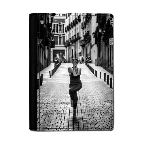 Handmade Passport Cover - Madrid Yoga-accessories, travel, cases-Northern Treasure